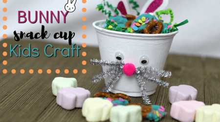 Tumble Leaf Bunny Snack Cup Kids Craft