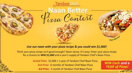 Tandoor Chef Celebrates National Pizza Month with Authentic Indian Cuisine and Recipe Contest