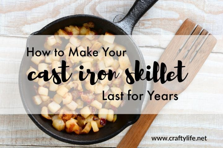 Here are some tips to help you make sure your cast iron last for years to come and even be handed down to the next generation.
