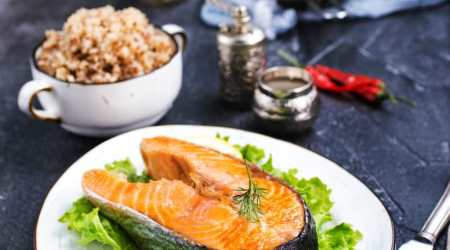 Honey Spiced Salmon with Quinoa Salad Recipe