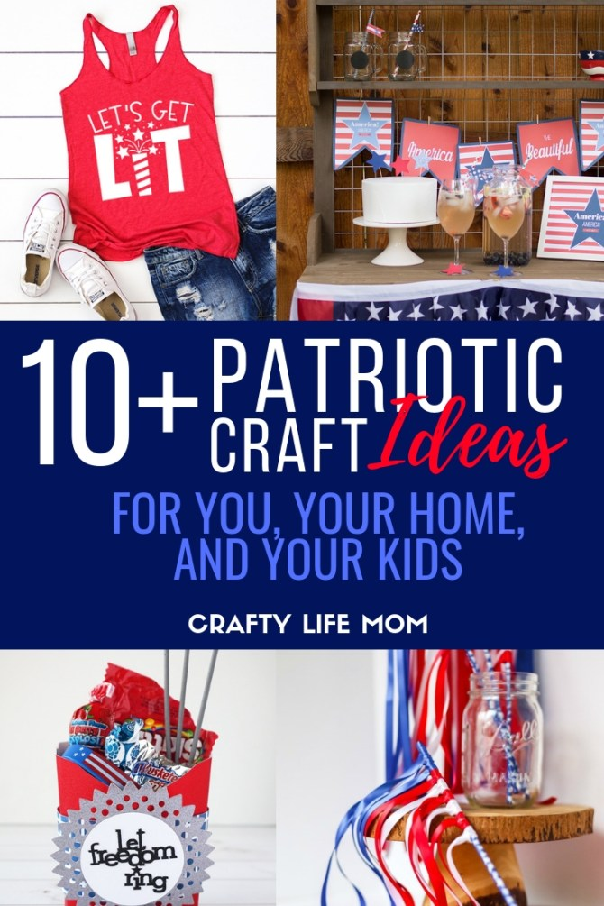 Looking to get creative this 4th of July season? Here are 10 Plus Patriotic Crafts and DIYs for you to make for you and your home. These simple easy DIYs are fun and creative.