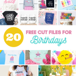 Birthdays are special and something that should be celebrated and recognized. Creating a special day for your loved ones is so much fun with unique decorations and cards. I'm sharing 20 Birthday SVG cut files to make and create with your Circut and Silhouette cutting machines.