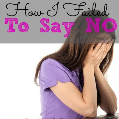 How I failed to Say No
