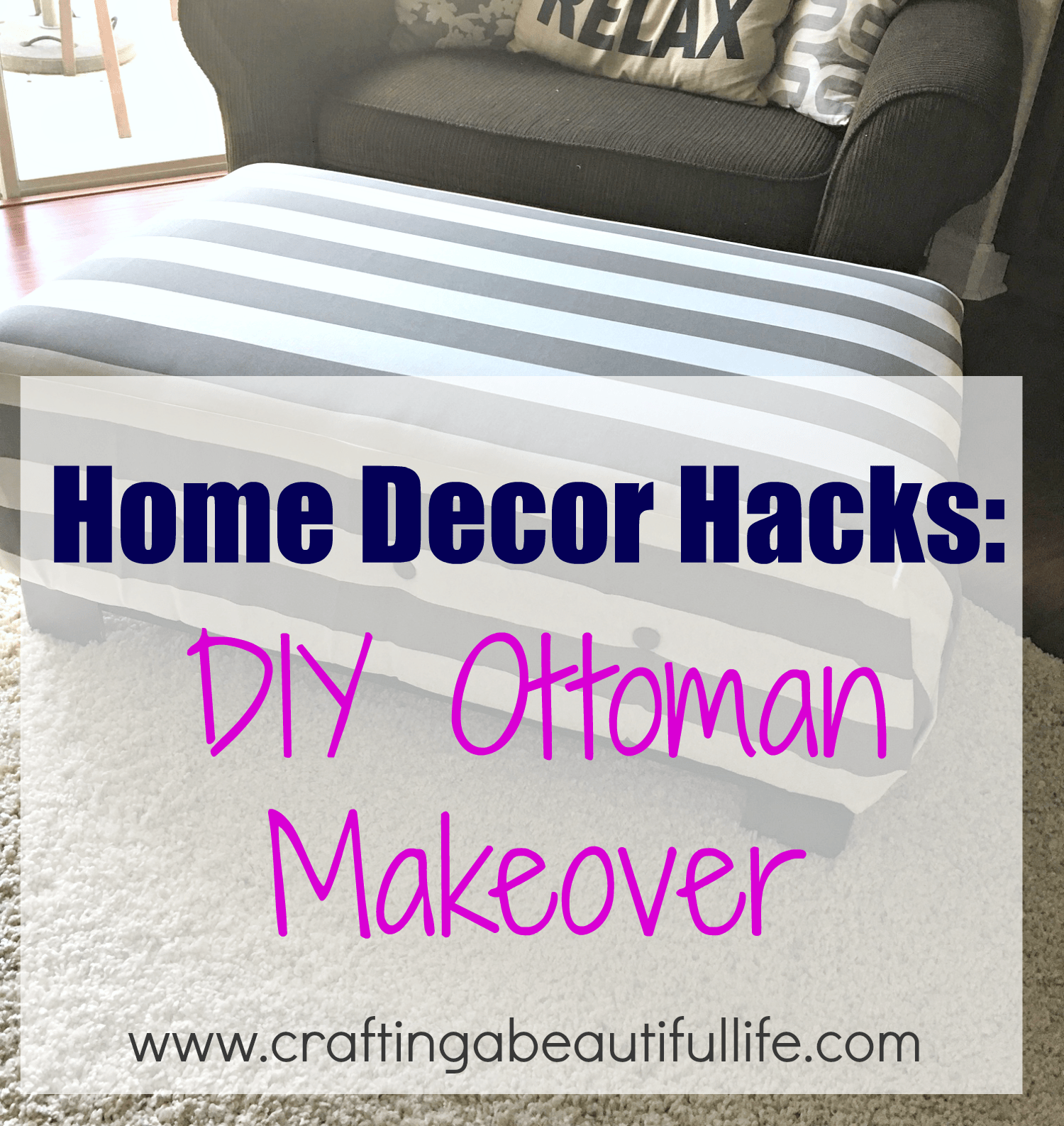 Marvelous Home Decor Hacks For Recovering An Old Ottoman In Your Home Machost Co Dining Chair Design Ideas Machostcouk