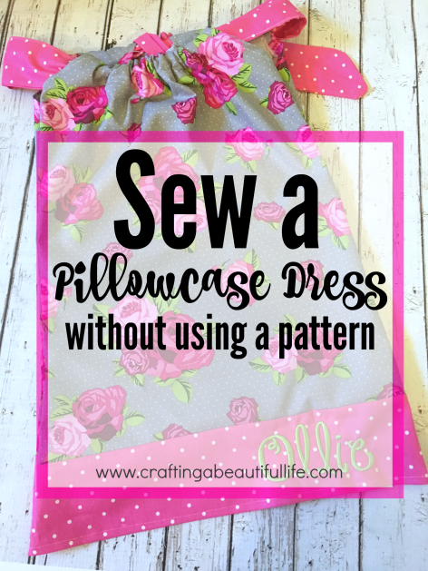 Beginner sewing project: pillowcase dress