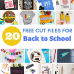 20+ Free SVGs for Teachers and Back to School. Start school ready and in style with these cute cut files.