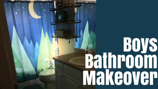 Boys Bathroom Makeover