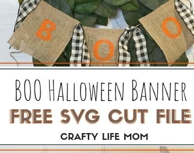 Boo Halloween Banner DIY