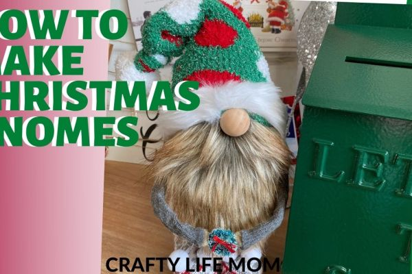 Create adorable DIY Christmas Gnomes using this tutorial.