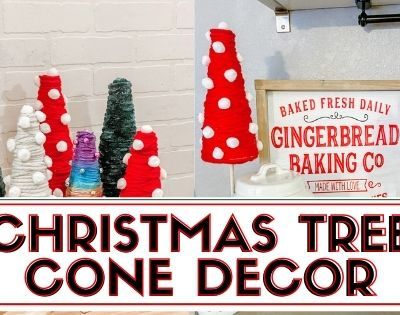 Christmas Trees Cone Decor