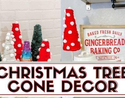 Christmas Trees Cone Decor