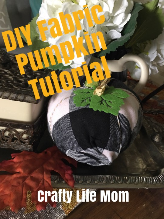 DIY Fabric Pumpkins you can make using stryfoam pumpkins form the dollar tree. This simple DIY Fabric Pumpkin takes only minutes to recreate.