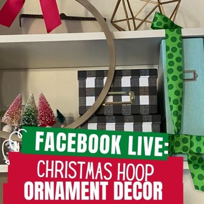 Christmas Hoop Ornament Decor