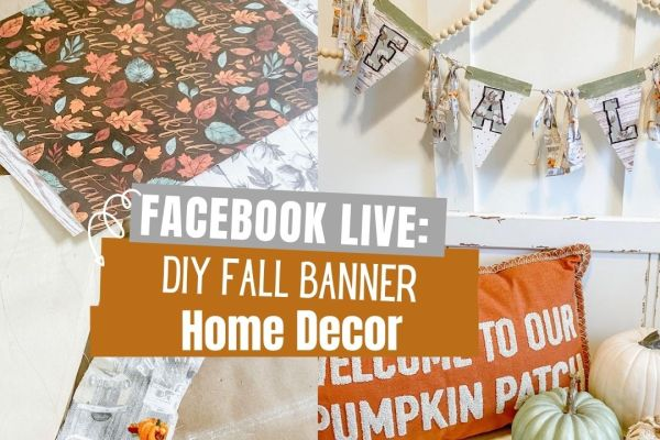 DIY Fall Banner Decor #fall #homedecor
