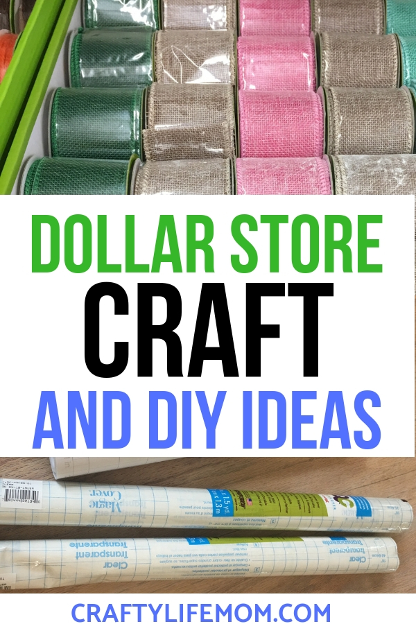 The Best Dollar Store crafts you can make using items from the Dollar Tree. Recreate these simple Craft DIYs and HOme Decor items on a budget. They are simple and easy to make. #dollarstorecrafts #dollartreecraafts #cricutcrafts #silhouettecrafts