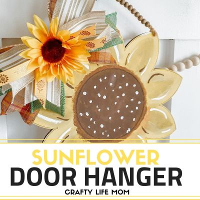 Paint A Sunflower Door Hanger