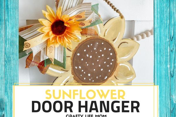 Create a cute and adorable Sunflower Door Hanger with this tutorial. This DIY project is simple to recreate and make all your own with just an MDF blank and paints.