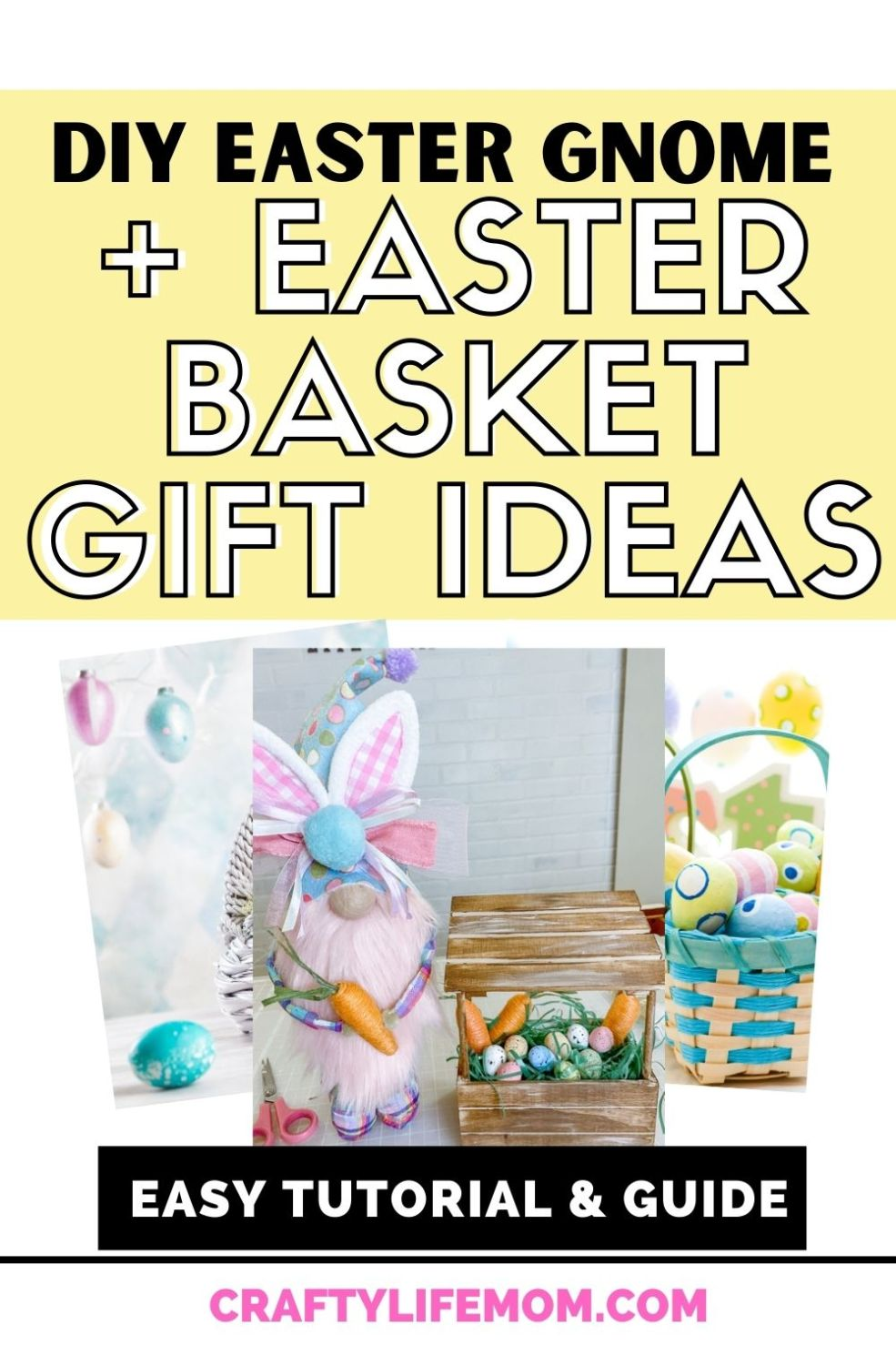 Create this cute DIY Easter Gnome Plus discover these top Easter basket gift ideas for your kids Easter baskets. This Easter gnome makes for a great gift idea in lieu of a stuffed bunny.