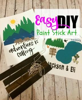 Easy Paint Stick Art