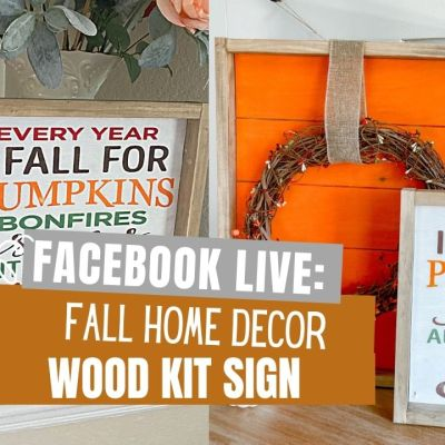 Fall For You Wood Sign Craft Kit