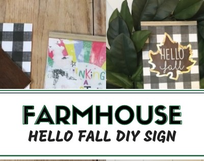 Fall Farmhouse Dollar Tree DIY Sign