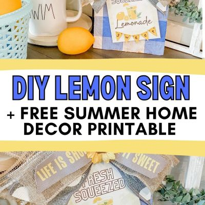 DIY Lemon Sign Home Decor