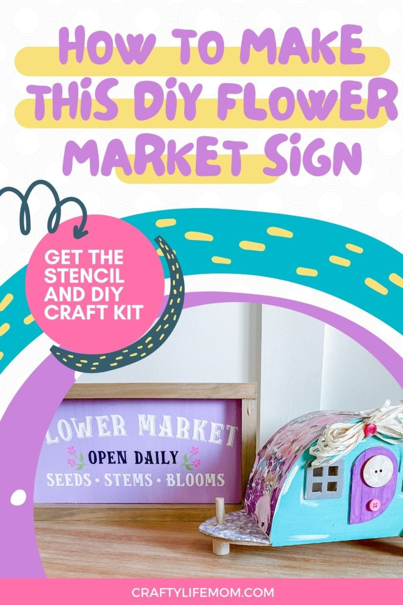Create your own Flower Market wood sign at home with this DIY Wood Sign Kit.The kits come with everything you need to paint your own sign.Display the sign within your home decor for a unique to your home Spring to Summer display.
