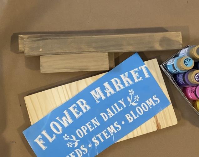 Flower Market Sign kit