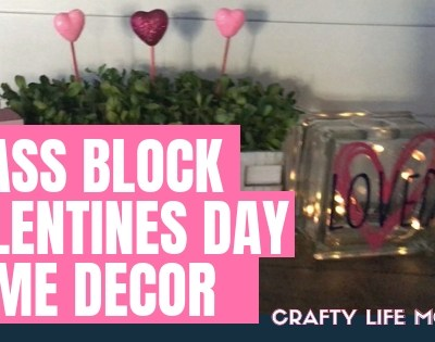 DIY Vinyl Glass Block Home Decor