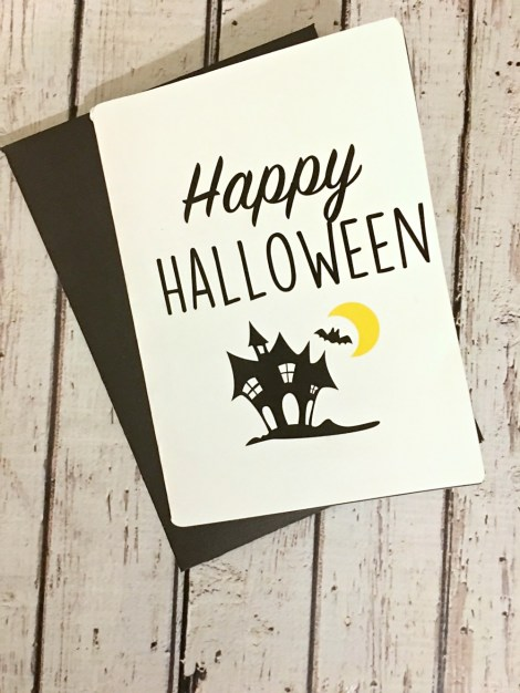 FREE Printable & SVG Cut File for a Happy Halloween greeting card. Download this free file and more!