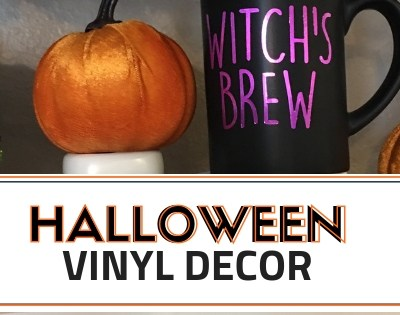 Halloween Decor with Vinyl