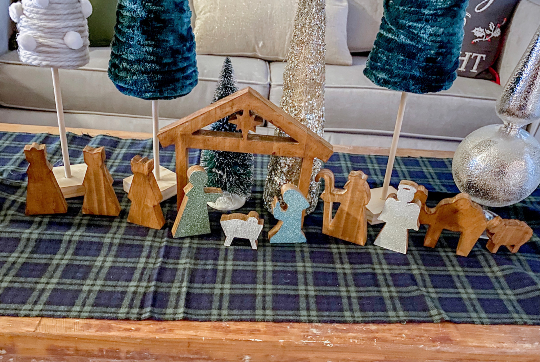 DIY hobby lobby nativity scene makeover