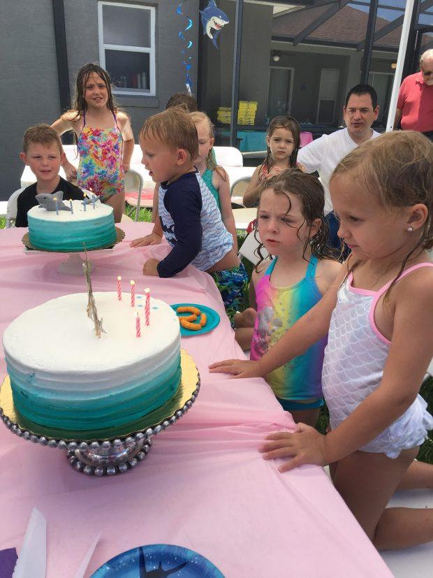 Mermaid Shark Birthday Cakes