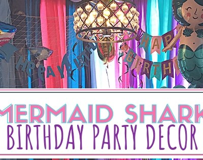 Mermaid Shark Party Decor
