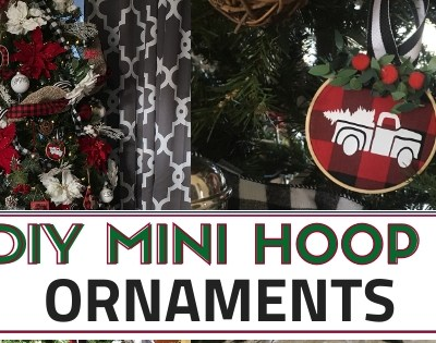 DIY Embroidery Hoop Christmas Ornaments