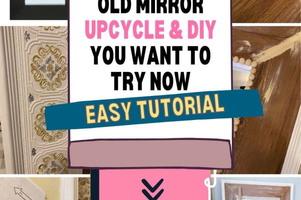 How to upcycle and makeover an old Ikea Mongstad Mirror. Take this mirror and turn it into something original and unique for your home and space that suits your personal style.