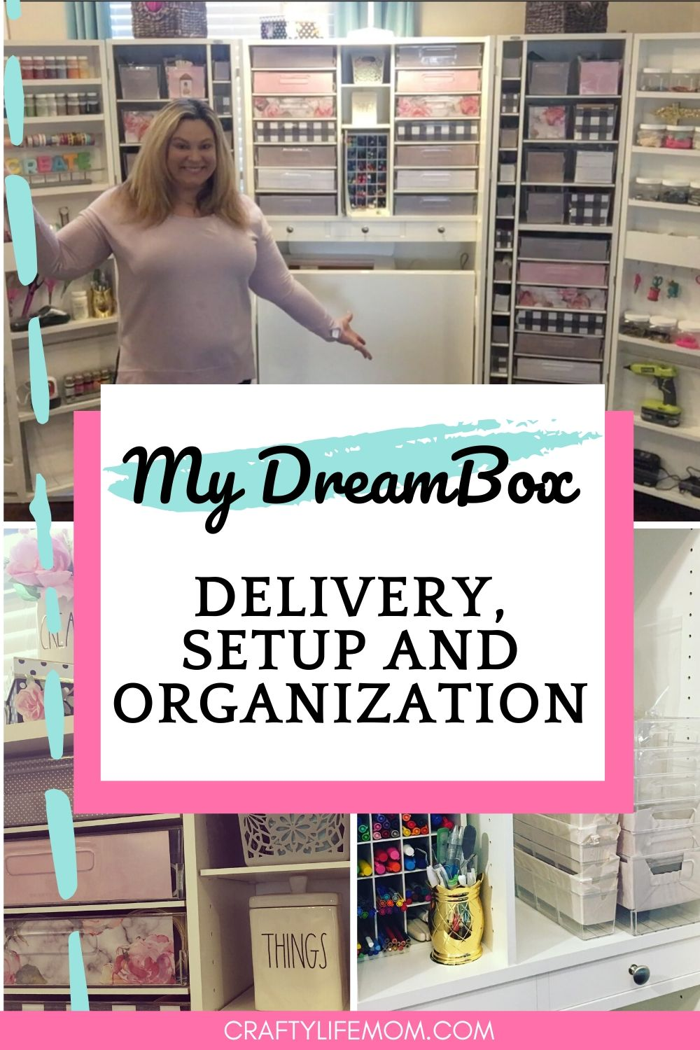 Organize the Dreambox from Createroom with your own style. I created a beautiful organized system for my Dreambox. I share my experience from delivery, setup, and organization #createroom #dreambox #craftorganization #craftroommakeover #craftroom
