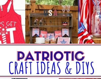 20+ Patriotic Crafts + DIYs