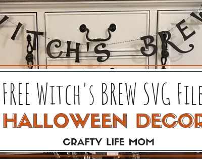 Witch's Brew Halloween Decor – Free SVG Cut File