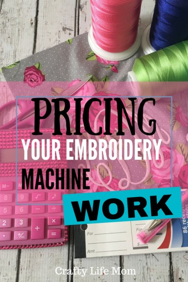 Pricing Your work for Embroidery. Learn to be profitiable in your embroidery business by using this bloggers pricing strategy and methods