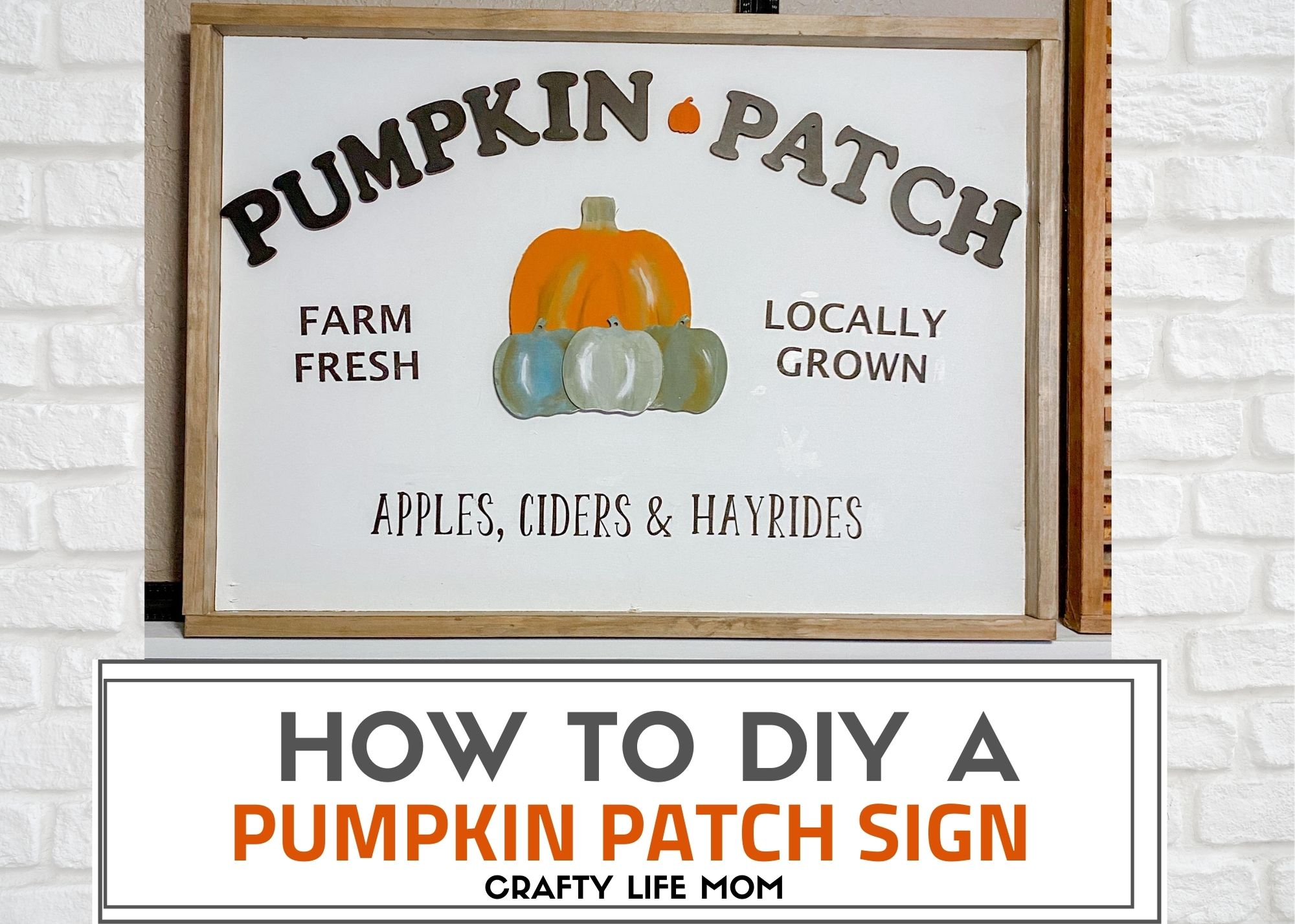 Pumpkin Patch Sign With Raised Letters And Pumpkins