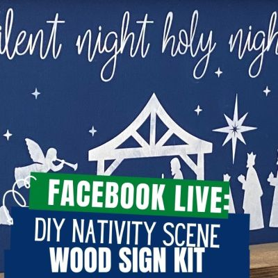Create your own Nativity Scene wood sign at home with this DIY Wood Sign Kit.The kits come with everything you need to paint your own sign.Display the sign within your home decor for a unique to your home holiday display.