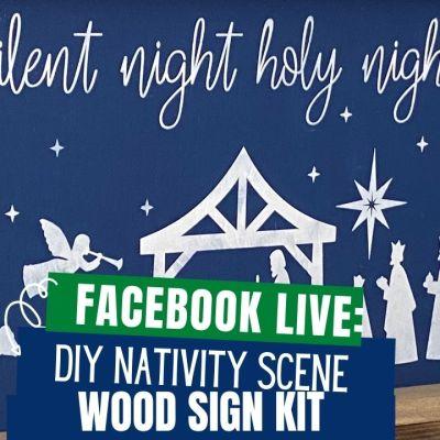 Nativity Scene Wood Sign