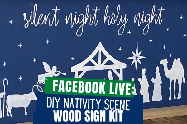 Create your own Nativity Scene wood sign at home with this DIY Wood Sign Kit. The kits come with everything you need to paint your own sign. Display the sign within your home decor for a unique to your home holiday display.