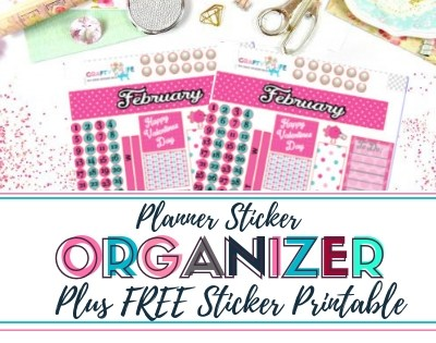 Mollie Ollie Sticker Organizer Plus Free Sticker Print and Cut File
