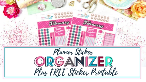 Organize your planner stickers with this super cute and functional tote. Plus download the FREE Print and Cut file for February monthly spread. Includes FREE Silhouette Studio file. #plannerstickers #printandcut #februarymonthly #monthlyspread #erincondren