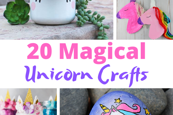 20 Unicorn Crafts you can create with with your favorite Unicorn Lover. Decorate and play with these fun and easy Unicorn Crafts