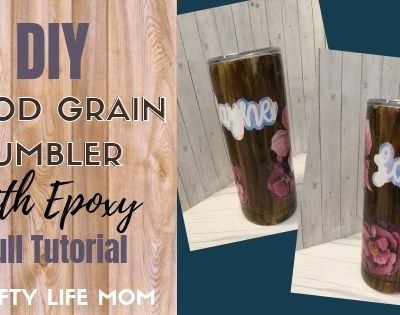 Wood Grain Epoxy Tumbler DIY