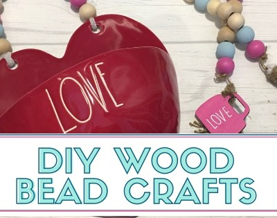 DIY Wood Bead Tassel Decor
