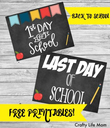 Back to School Photo Sign Printable. Print these off in minutes to add fun to your back to school photos!